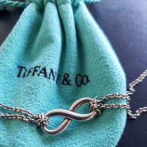 Authentic Tiffany Infinity Necklace Sterling silve